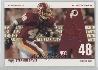 2002 UD Authentics All-Star Authentics Gold #AA-SD - Stephen Davis /25