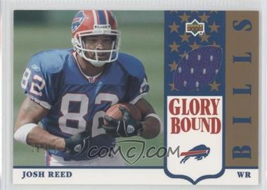 2002 UD Authentics Glory Bound Jerseys Gold #GBJ-JR - Josh Reed /25