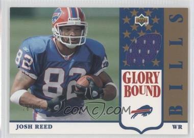 2002 UD Authentics Glory Bound Jerseys Gold #GBJ-JR - Josh Reed /25
