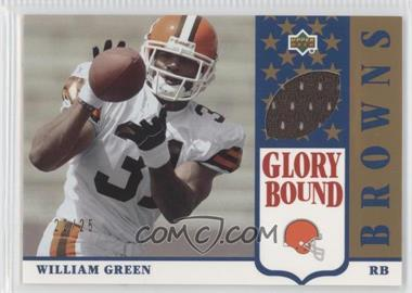 2002 UD Authentics Glory Bound Jerseys Gold #GBJ-WG - William Green /25