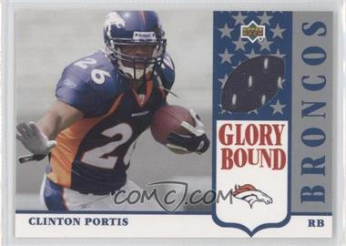 2002 UD Authentics Glory Bound Jerseys #GBJ-CP - Clinton Portis