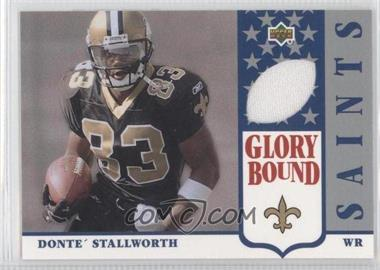 2002 UD Authentics Glory Bound Jerseys #GBJ-DS - Donte Stallworth