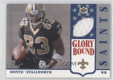 2002 UD Authentics Glory Bound Jerseys #GBJ-DS - Donte Stallworth
