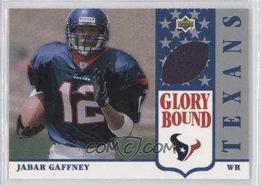 2002 UD Authentics Glory Bound Jerseys #GBJ-JG - Jabar Gaffney