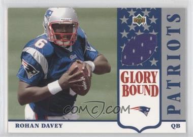 2002 UD Authentics Glory Bound Jerseys #GBJ-RD - Rohan Davey
