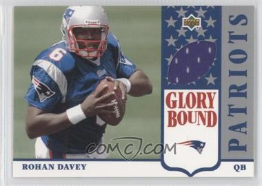 2002 UD Authentics Glory Bound Jerseys #GBJ-RD - Rohan Davey