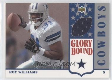 2002 UD Authentics Glory Bound Jerseys #GBJ-RW - Roy Williams