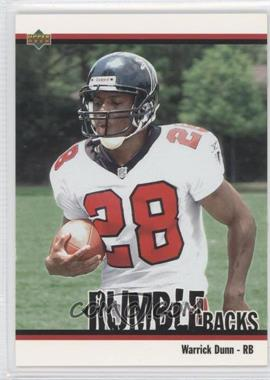 2002 UD Authentics Rumble Backs #RB-14 - Warrick Dunn