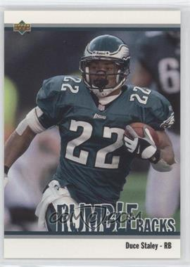 2002 UD Authentics Rumble Backs #RB-17 - Duce Staley