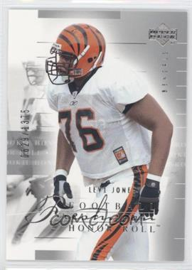 2002 Upper Deck Honor Roll #121 - Levi Jones /1375