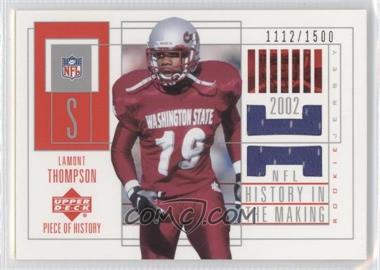2002 Upper Deck Piece Of History [???] #156 - Lamont Thompson /1500