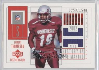 2002 Upper Deck Piece Of History #156 - Lamont Thompson /1500