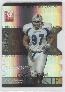 2003 Donruss Elite - [Base] - Turn of the Century Rookie Autographs [Autographed] #167 - Kenny Peterson /125