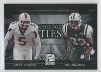 Andre Johnson, Anthony Johnson, Santana Moss /2000