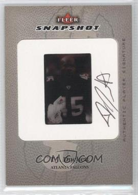 2003 Fleer Snapshot 35mm Slides Autographs [Autographed] #SSA/TD - T.J. Duckett /50