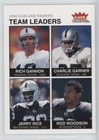 Rich Gannon, Charlie Garner, Jerry Rice, Rod Woodson