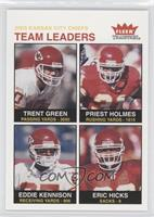 Trent Green, Eddie Kennison, Priest Holmes, Eric Hicks
