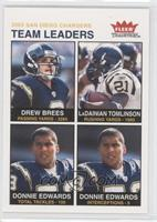 Drew Brees, LaDainian Tomlinson, Donnie Edwards
