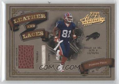 2003 Playoff Absolute Memorabilia Leather and Laces Holofoil #LL-35 - Peerless Price /25