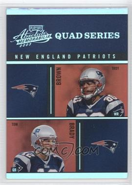2003 Playoff Absolute Memorabilia Quad Series #QS-8 - Troy Brown, Tom Brady, Deion Branch, Antowain Smith