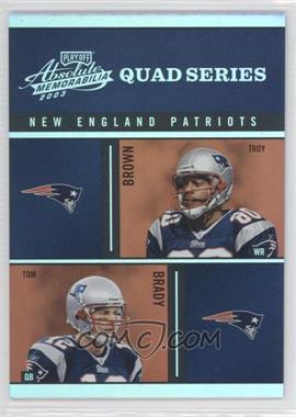 2003 Playoff Absolute Memorabilia Quad Series #QS-8 - Troy Brown, Tom Brady, Deion Branch, Antowain Smith