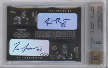 2003 Playoff Contenders Round Numbers Quads Autograph [Autographed] #RN-3 - Kyle Boller, Rex Grossman /100 [BGS 9]