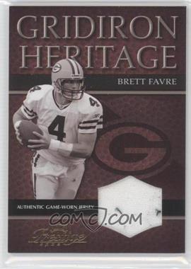 2003 Playoff Prestige - Gridiron Heritage - Materials #GH-13 - Brett Favre /250
