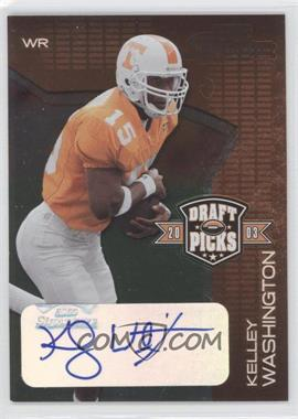 2003 Playoff Prestige Draft Picks Autographs #DP-13 - Kelley Washington /50