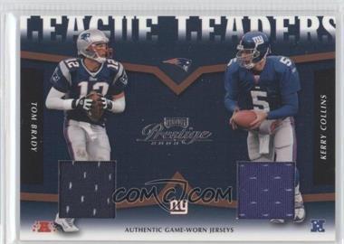 2003 Playoff Prestige League Leaders Jerseys [Memorabilia] #LLT-6 - Tom Brady, Kerry Collins /250
