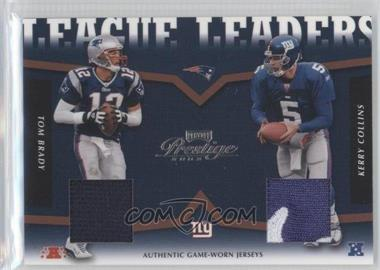 2003 Playoff Prestige League Leaders Jerseys [Memorabilia] #LLT-6 - Tom Brady, Kerry Collins /250