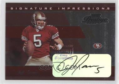 2003 Playoff Prestige Signature Impressions #SI-9 - Jeff Garcia /50