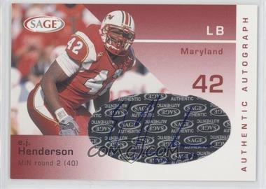 2003 SAGE [???] #A20 - E.J. Henderson