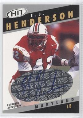 2003 SAGE Hit Autographs Silver #A42 - E.J. Henderson
