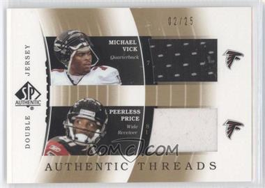 2003 SP Authentic - [???] #DJC-MV/PP - Michael Vick, Peerless Price /25