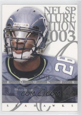 2003 SP Signature Edition - [Base] #175 - Ken Hamlin /250