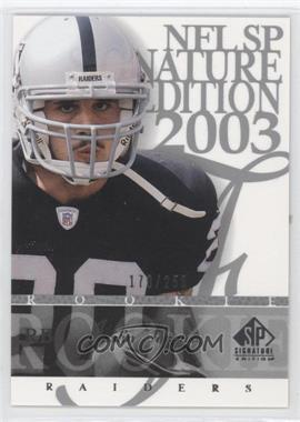 2003 SP Signature Edition [???] #194 - Justin Fargas /250