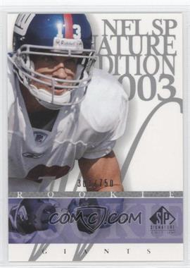 2003 SP Signature Edition #144 - Keith Washington /750