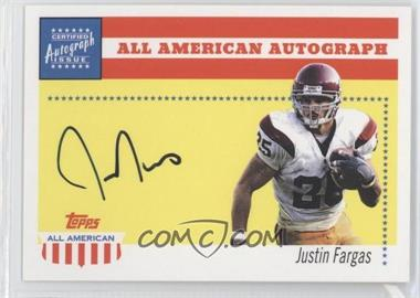 2003 Topps All American - All American Autographs #AA-JF - Justin Fargas