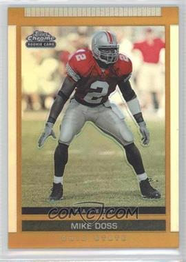 2003 Topps Draft Picks & Prospects Chrome Gold Refractor #128 - Mike Doss