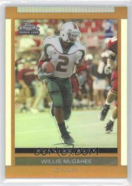 2003 Topps Draft Picks & Prospects Chrome Gold Refractor #140 - Willis McGahee