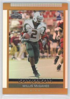 2003 Topps Draft Picks & Prospects Chrome Gold Refractor #140 - Willis McGahee