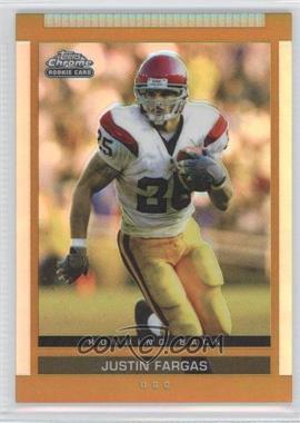 2003 Topps Draft Picks & Prospects Chrome Gold Refractor #153 - Justin Fargas