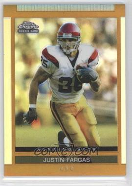 2003 Topps Draft Picks & Prospects Chrome Gold Refractor #153 - Justin Fargas