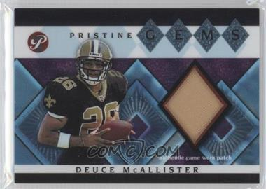 2003 Topps Pristine - Pristine Gems #PG-DM - Deuce McAllister