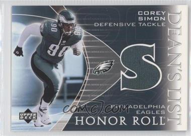2003 Upper Deck Honor Roll - Dean's List Jerseys #DL-SI - Corey Simon