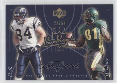 2003 Upper Deck Pros & Prospects - [Base] - Gold #190 - Justin Peelle, George Wrighster /50