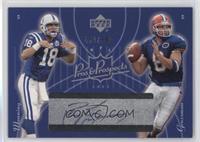 Peyton Manning, Rex Grossman (Peyton Manning Autograph) /500