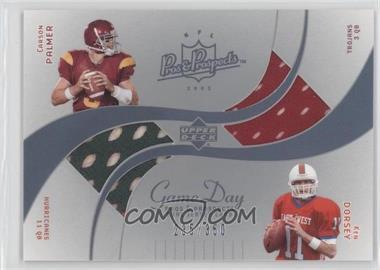 2003 Upper Deck Pros & Prospects Game Day Jerseys Dual #DJC-CD - Ken Dorsey, Carson Palmer /350