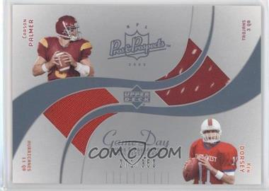 2003 Upper Deck Pros & Prospects Game Day Jerseys Dual #DJC-CD - Ken Dorsey, Carson Palmer /350