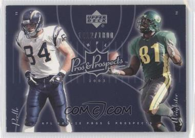 2003 Upper Deck Pros & Prospects #190 - Justin Peelle, George Wrighster /1800